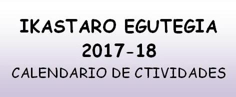 2017-2018ko ikastaroen egutegia