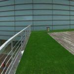 Terraza de madera en el exterior Vista panorámica
