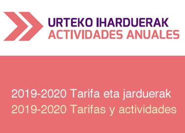 Este año también ofrecemos una amplia oferta de actividades 2019 – 2020